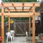 Small Japanese style patio arbor