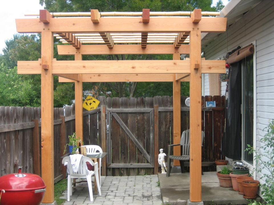 Image gallery japanese arbor for Japanese garden structures wood