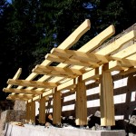 Greene and Greene style arbor of Alaska Yellow Cedar