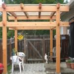 Small Japanese style patio arbor